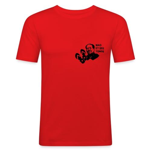 MAO et ses tongs - T-shirt près du corps Homme