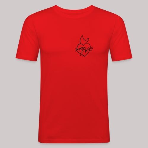 Sagrado Corazón de Jesús - Camiseta ajustada hombre