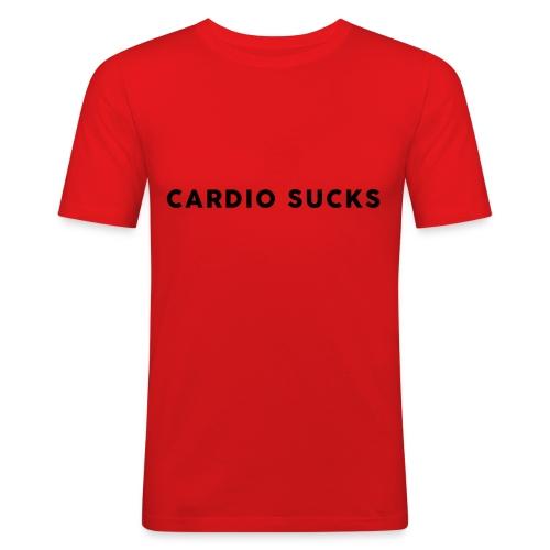 Cardio Sucks - Männer Slim Fit T-Shirt