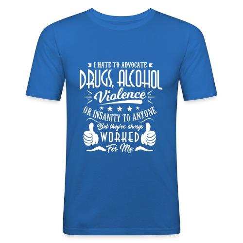I hate to advocate drugs - Slim Fit T-skjorte for menn