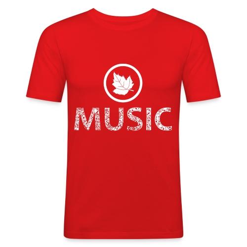 logo bashk music e bardhe - Men's Slim Fit T-Shirt