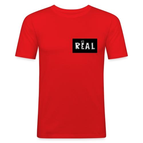 REAL (Black & White) - Mannen slim fit T-shirt