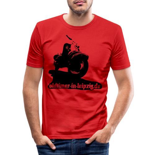 Roller Berlin IWL Oldtimer mit Logo OiL - Männer Slim Fit T-Shirt