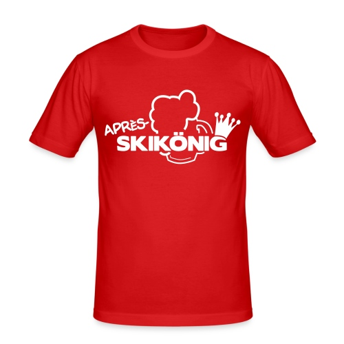 Apres Ski König - Männer Slim Fit T-Shirt