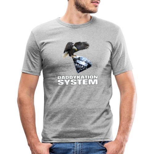 DADDYKATION SYSTEM // LOGO - Männer Slim Fit T-Shirt