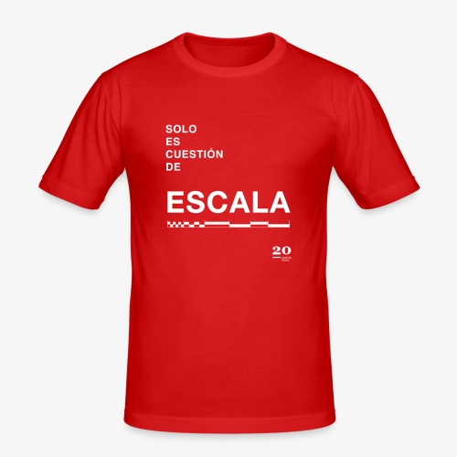 escala - Camiseta ajustada hombre