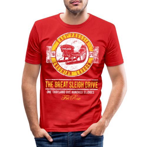 FriRex Schlittenfahrt - Männer Slim Fit T-Shirt