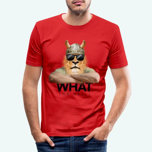 What the hell? - Männer Slim Fit T-Shirt
