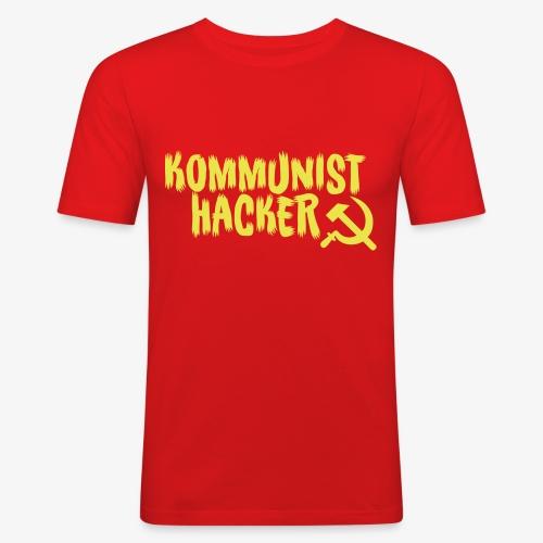 Kommunist Hacker - Herre Slim Fit T-Shirt