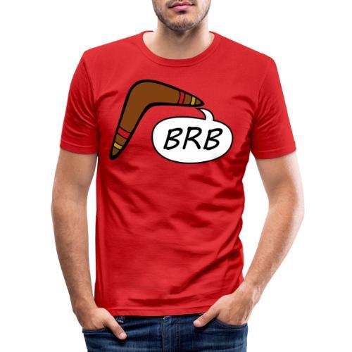 BRB boomerang - Mannen slim fit T-shirt