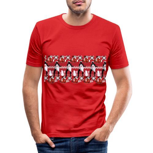 Motif Noël J'ai les boules (sans texte) - T-shirt près du corps Homme