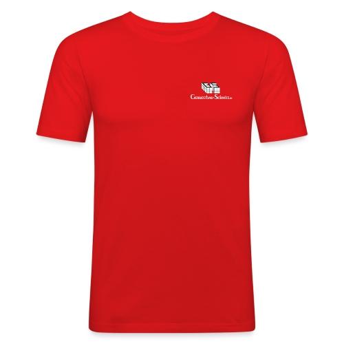 GS TShirt schwarz weiss - Männer Slim Fit T-Shirt