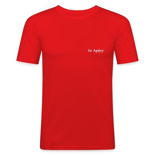So Apéro blanc gif - T-shirt près du corps Homme