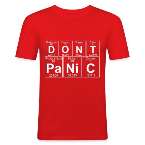 D-O-N-T Pa-Ni-C (don't Panic) - Men's Slim Fit T-Shirt