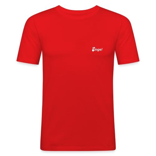 Logo Zinge! klein - Mannen slim fit T-shirt