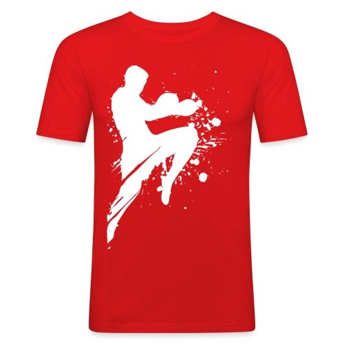 Kampfsport Lausitz Cottbus Logo - Männer Slim Fit T-Shirt