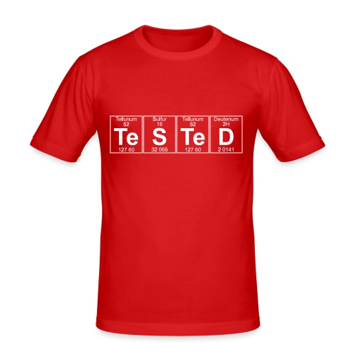 Te-S-Te-D (tested) (small) - Men's Slim Fit T-Shirt