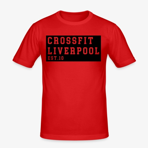 Cross Fit Liverpool - block print - Men's Slim Fit T-Shirt