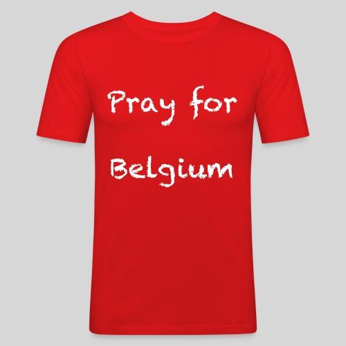 Pray for Belgium - T-shirt près du corps Homme