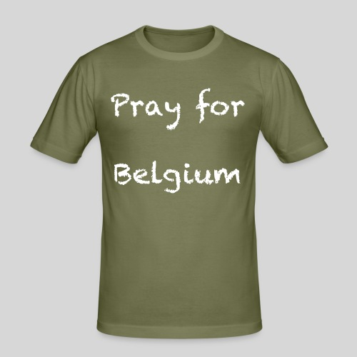 Pray for Belgium - T-shirt près du corps Homme