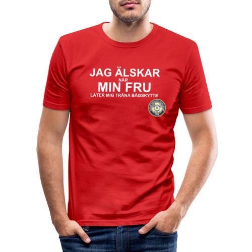 Jag Älskar Min Fru & Bågskytte - Slim Fit T-shirt herr