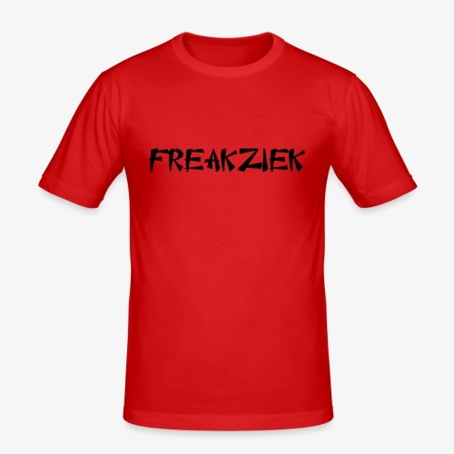 FZ letter logo - Mannen slim fit T-shirt