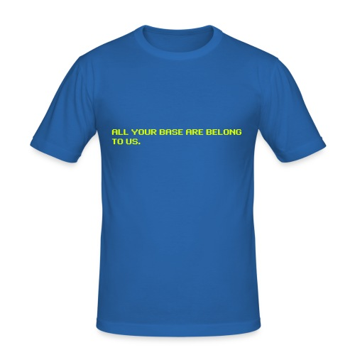 All your base are belong to us - original - Men's Slim Fit T-Shirt