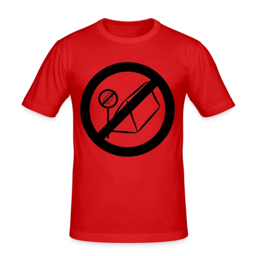 posting of camping forbidden signs prohi - Männer Slim Fit T-Shirt