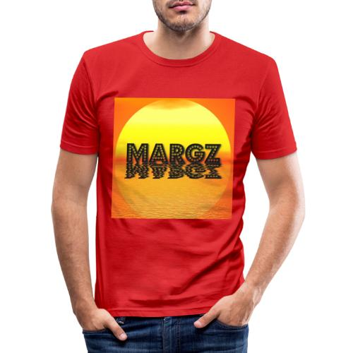 Sunset over Margz - Men's Slim Fit T-Shirt