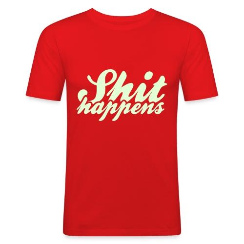 Shit Happens and Politics - Men's Slim Fit T-Shirt