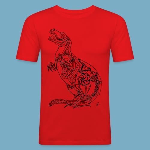 Rex black - Männer Slim Fit T-Shirt