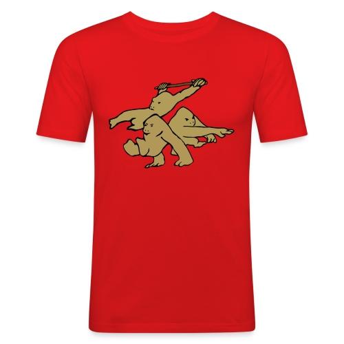 Three Parkour Monkeys - Men's Slim Fit T-Shirt
