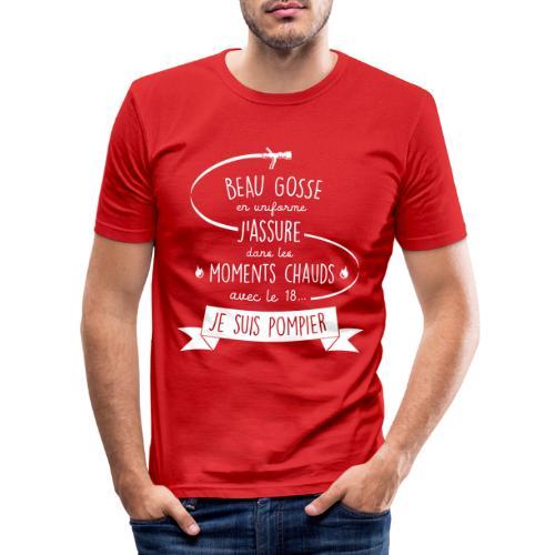 beau gosse pompier - T-shirt près du corps Homme