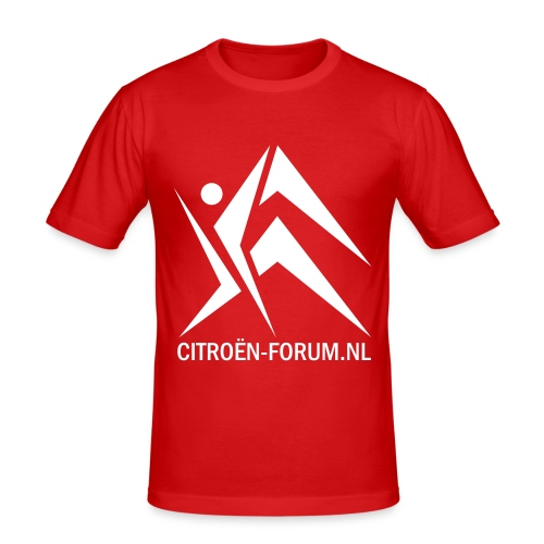 logo cfnl groot - Mannen slim fit T-shirt