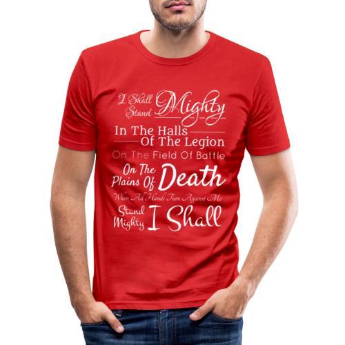 dk motto white png - Men's Slim Fit T-Shirt