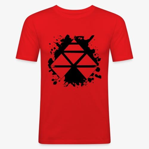 Michi Shaw Logo - Männer Slim Fit T-Shirt