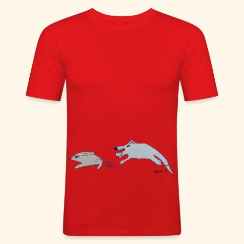 LeniT Catch Me If You Can - Miesten tyköistuva t-paita