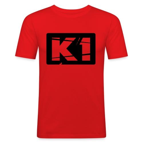 K1 Badge - Mannen slim fit T-shirt