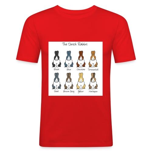 Dutch Rabbit Colours - Men's Slim Fit T-Shirt