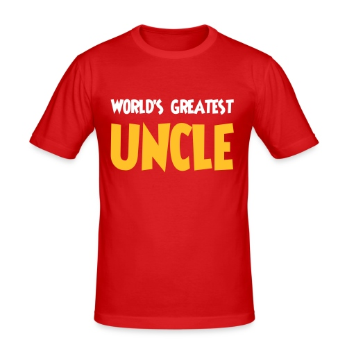 World's greatest uncle - Men's Slim Fit T-Shirt