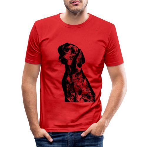 portrait of dog - Maglietta aderente da uomo