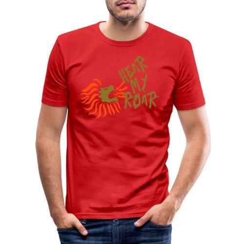hearmyroar - Mannen slim fit T-shirt