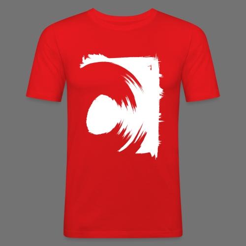 wirowania (biały) - Obcisła koszulka męska