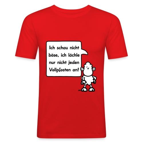 sheepworld - Ich schau nicht böse, ich lächle nur - Männer Slim Fit T-Shirt