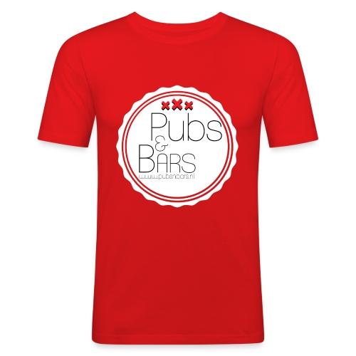 PubsnBars - Mannen slim fit T-shirt