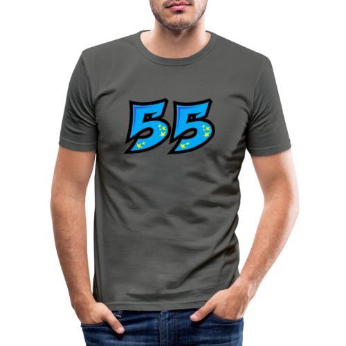 graf55blue - Miesten tyköistuva t-paita