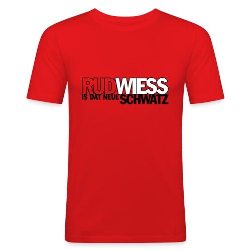Rud/Wieß is dat neue Schwatz (Kölsch) - Männer Slim Fit T-Shirt