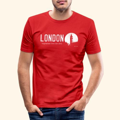 London Vegetarian Crew - Men's Slim Fit T-Shirt
