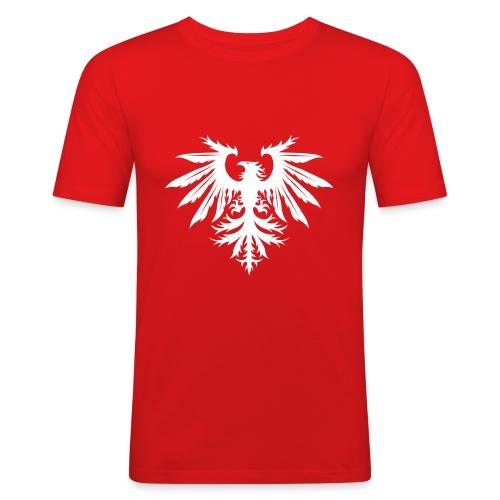 NEW Mark Eteson Bird Logo - Men's Slim Fit T-Shirt
