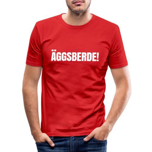 Äggsberde schwarz einzeilig - Männer Slim Fit T-Shirt